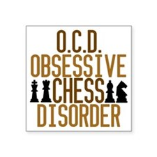 "obsessivechessdisorder Square Sticker 3"" x 3"""