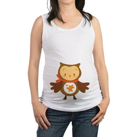 Autumn Owl Thanksgiving Halloween Maternity Tank T