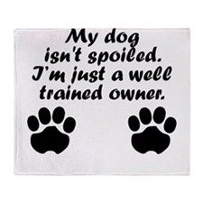 Well Trained Dog Owner Throw Blanket