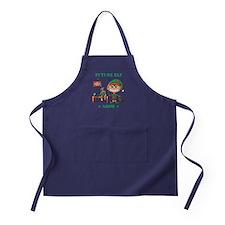 Personalize Future Christmas Elf Apron (dark)