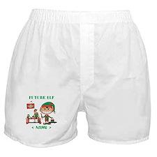 Personalize Future Christmas Elf Boxer Shorts