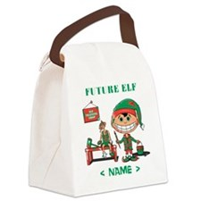 Personalize Future Christmas Elf Canvas Lunch Bag