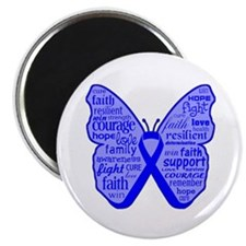 "Butterfly Colon Cancer Ribbon 2.25"" Magnet (10 pac"