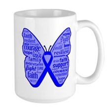 Butterfly Colon Cancer Ribbon Mug