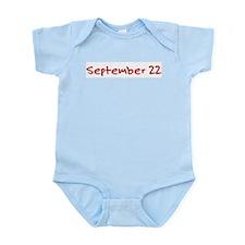 """September 22"" printed on a Infant Bodysuit"