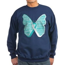 Butterfly Cervical Cancer Sweatshirt
