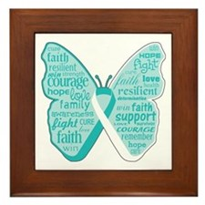 Butterfly Cervical Cancer Framed Tile