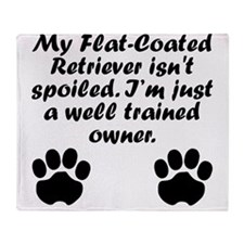 Well Trained Flat-Coated Retriever Owner Throw Bla