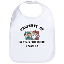 Personalize Property Santa's Workshop (Name) Bib