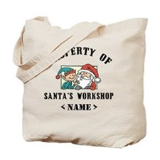 Personalize Property Santa's Workshop (Name) Tote