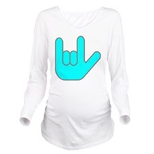 I Love You Cyan.gif Long Sleeve Maternity T-Shirt