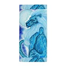 Moon Lion Beach Towel