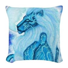 Moon Lion Woven Throw Pillow