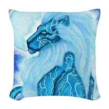 Moon Lion Woven Throw Pillow
