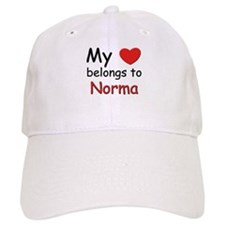 My heart belongs to norma Baseball Cap