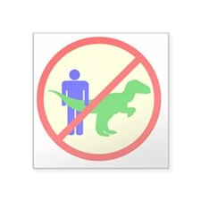 "man dinosaur shirt Square Sticker 3"" x 3"""