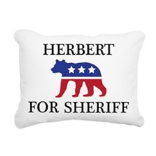 Herbert Mascott Rectangular Canvas Pillow