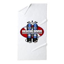 Resuce Diver (Scuba Tanks) Beach Towel