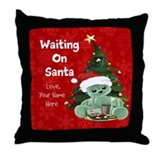 Waiting on Santa Personalized Throw Pillow