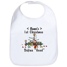 Personalize My First Christmas (Name) Bib