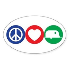 Peace, Love and Vintage Trailers Decal