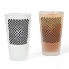 3D Checkered Optical Illusions Drinking Glass