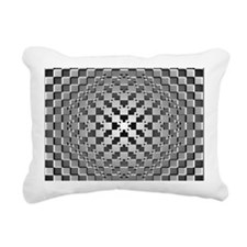 3D Checkered Optical Ill Rectangular Canvas Pillow