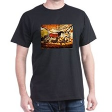LASCAUX CAVE PAINTING Black T-Shirt