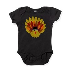 Happy Thanksgiving Turkey Baby Bodysuit