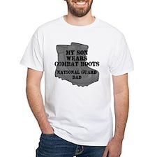 National Guard Dad Son Combat Boots T-Shirt