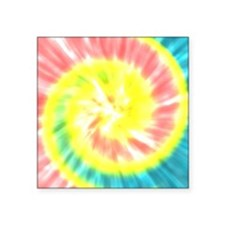 Coral and Yellow Tie Dye Sticker