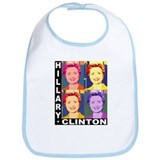 Hilary Pop Art Bib