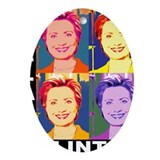 Hilary Pop Art Oval Ornament