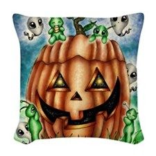 The Great Pumpkin Woven Throw Pillow