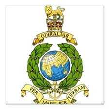 "British Army Square Car Magnet 3"" x 3"""