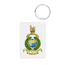 Royal Marines Aluminum Photo Keychain