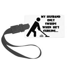 HusbandOnlySweepsWhiteTee Luggage Tag