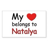 My heart belongs to natalya Rectangle Decal