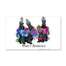 Scottish Terrier Party Animals Car Magnet 20 x 12