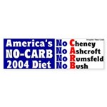 America's No-Carb Diet Bumper Sticker