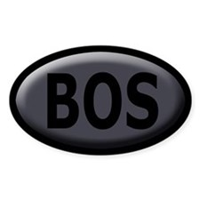 BOS Sticker/Decal - Bevel Charcoal, Black Text