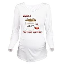 Dads Fishing Buddy Long Sleeve Maternity T-Shirt