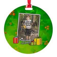 Personalized Christmas photo template Ornament