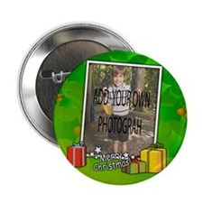 "Personalized Christmas photo template 2.25"" Button"