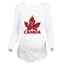 canada-maple-leaf Long Sleeve Maternity T-Shirt