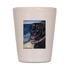 Happy Black Labrador Shot Glass