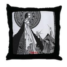 Ligiea by Edgar Allan Poe Throw Pillow