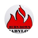 BURN BABYLON Ornament (Round)