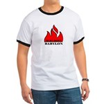 BURN BABYLON Ringer T