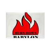 BURN BABYLON Rectangle Magnet (10 pack)